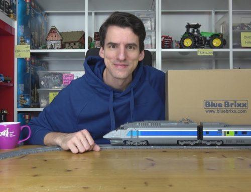 Ab zwei Metern fängt der große Spaß erst an! BlueBrixx Specials 102743 Schnellzug – über 3000 Teile!
